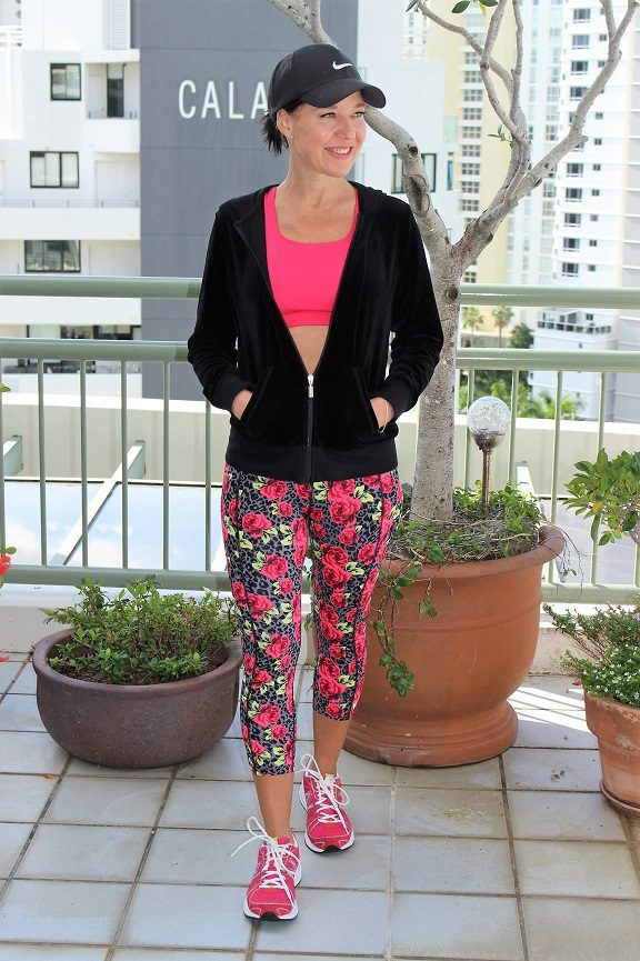 Floral activewear pants