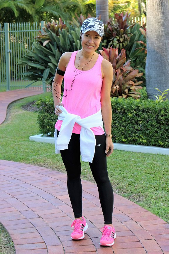 Fluro pink fitness singlet