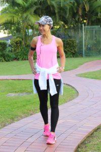 Fluro pink gym top