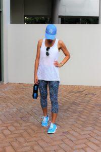 Blue active leggings